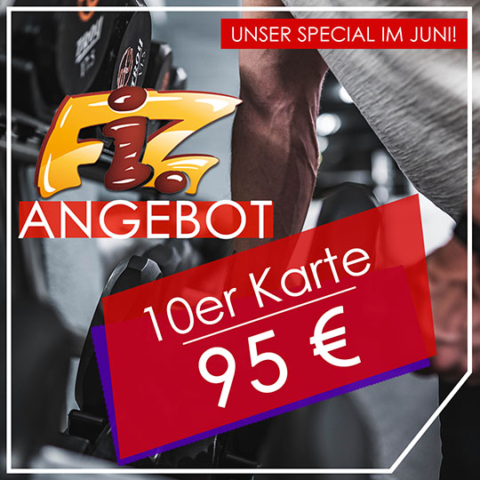 10er Karte im Juni zum Sonderpreis von nur 95€
