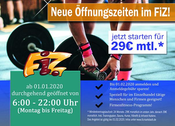 Neue Öffnungszeiten im FiZ Karlstadt
