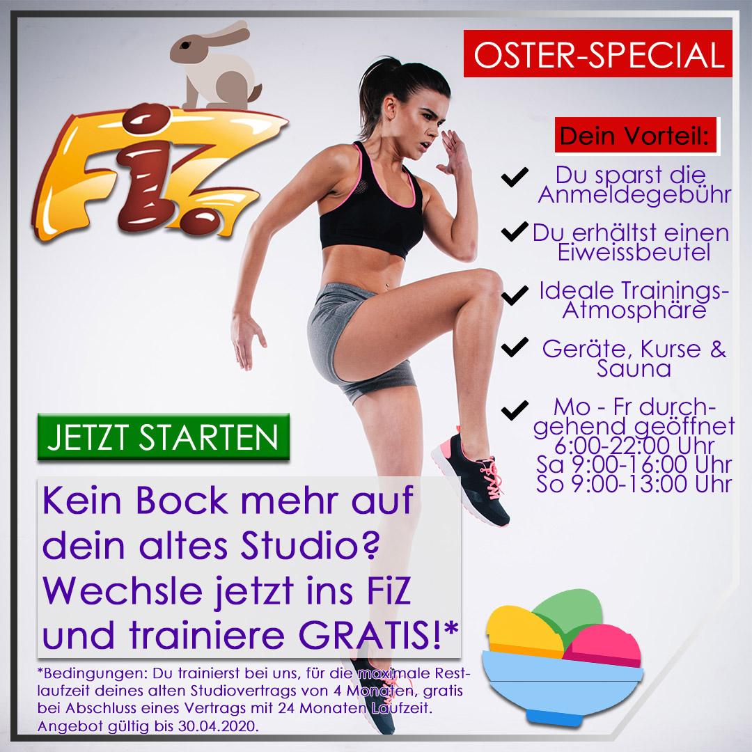 FiZ Oster Angebot - Jetzt Studio wechseln und Vorteil sichern