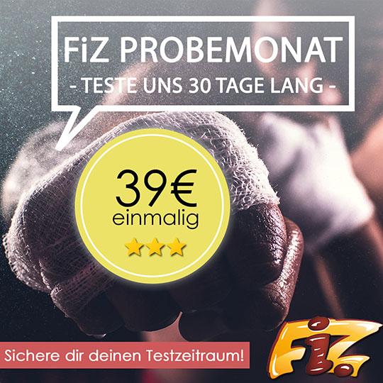 Jetzt 30 Tage FiZ testen - Probemonat sichern