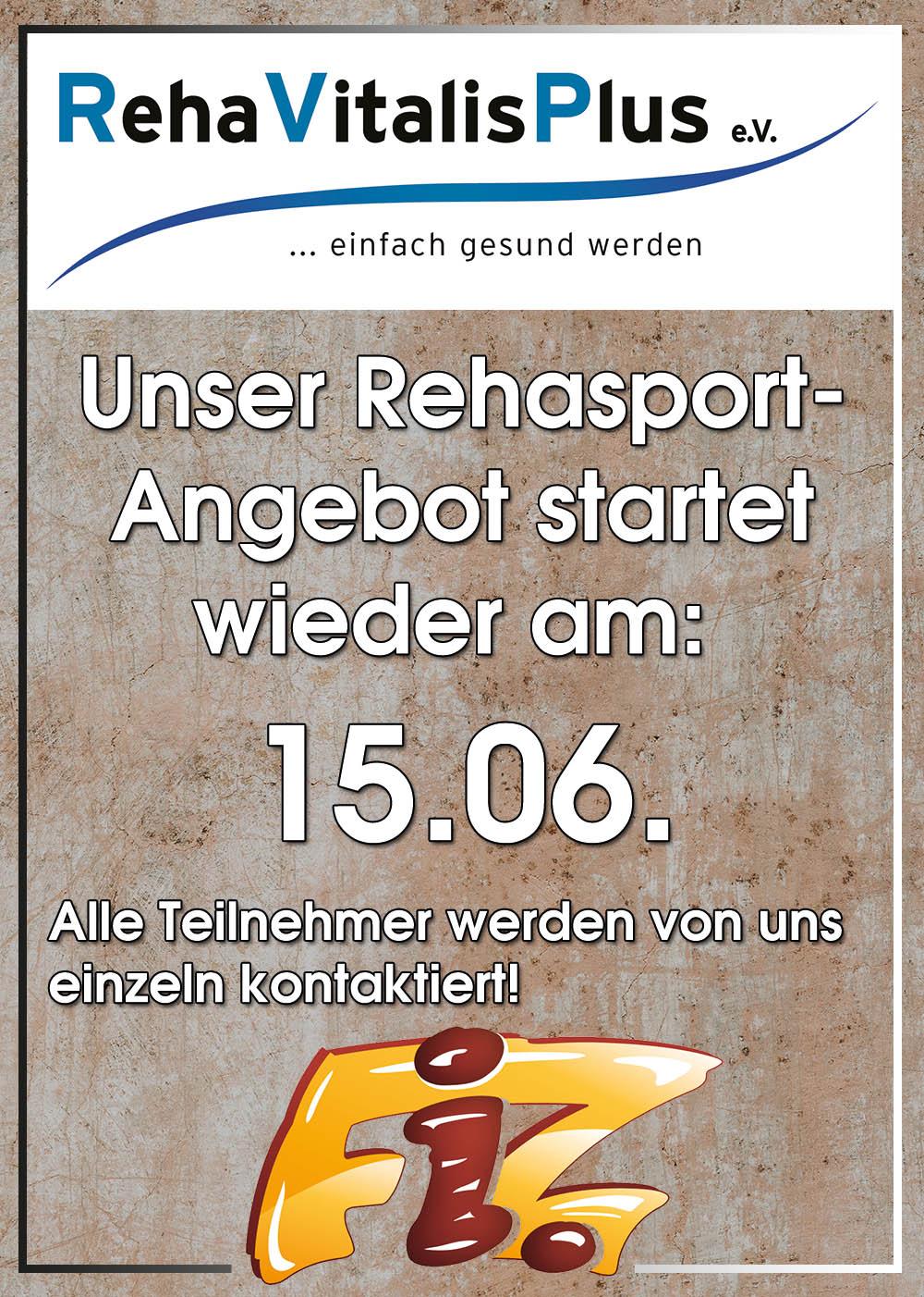 FiZ Rehasport ab 15.06.