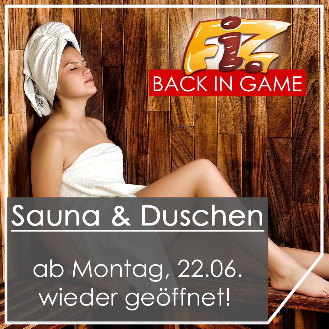 Sauna und Dusche ab 22.06.2020 wieder geöffnet